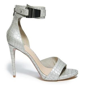 NEW GUESS BY MARCIANO CARI 2 LEATHER GRAY CROC 7.5